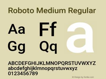 Roboto Medium Regular Version 2.134; 2016; ttfautohint (v1.4.1)图片样张