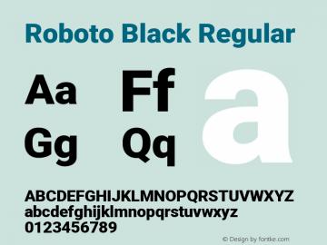 Roboto Black Regular Version 2.134; 2016; ttfautohint (v1.4.1)图片样张