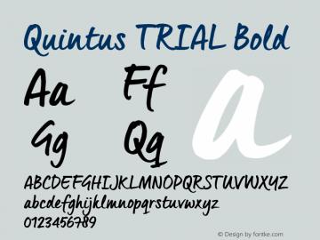 Quintus_TRIAL Bold Version 1.000 Font Sample