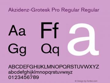 Akzidenz-Grotesk Pro Regular Regular Version 001.001;Core 1.0.01;otf.5.04.2741;08.08W Font Sample
