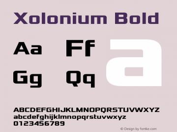 Xolonium Bold Version 4.0图片样张