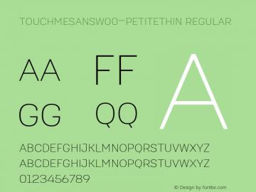 TouchMeSansW00-PetiteThin Regular Version 1.00 Font Sample
