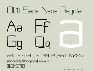 Obti Sans Neue Regular Version 1.0图片样张