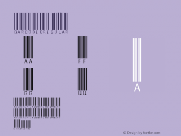barcoded Regular Version 1.00 Font Sample