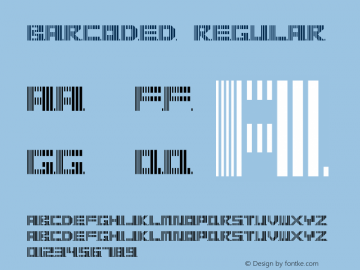 barcoded Regular Version 1.0 Font Sample