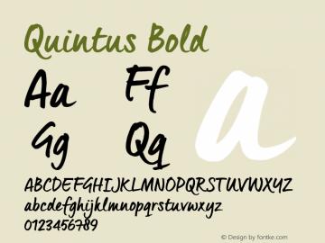 Quintus Bold Version 1.000 Font Sample