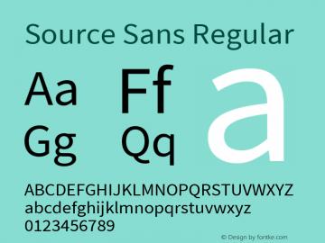 Source Sans Regular Version 1.026;PS Version 3.000;hotconv 1.0.70;makeotf.lib2.5.55311 Font Sample