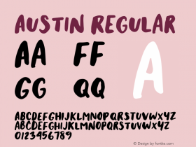 Austin Regular Version 1.000 Font Sample
