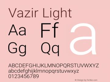 Vazir Light Version 4.2 Font Sample