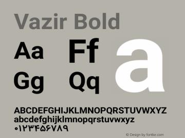 Vazir Bold Version 4.2 Font Sample