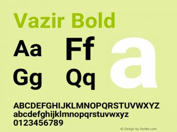 Vazir Bold Version 4.2.1 Font Sample