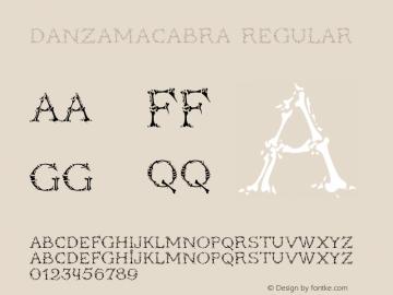 DanzaMacabra Regular Version 1.001MM图片样张