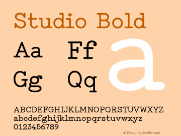 Studio Bold Version 1.001图片样张
