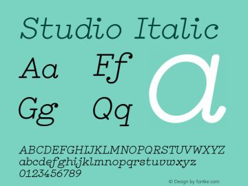 Studio Italic Version 1.001图片样张