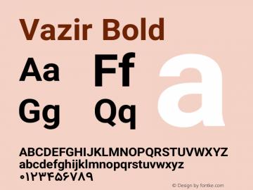 Vazir Bold Version 4.3.0 Font Sample