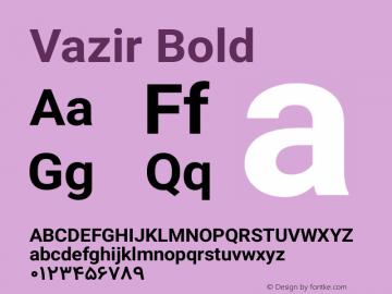 Vazir Bold Version 4.3.1 Font Sample