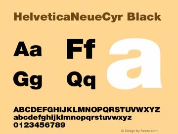 HelveticaNeueCyr Black 001.000图片样张