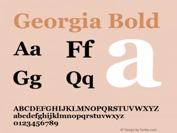 Georgia Bold Version 5.00图片样张