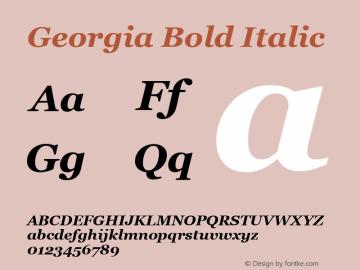 Georgia Bold Italic Version 5.00图片样张