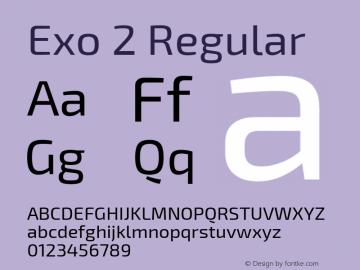 Exo 2 Regular Version 1.001;PS 001.001;hotconv 1.0.70;makeotf.lib2.5.58329; ttfautohint (v0.92) -l 8 -r 50 -G 200 -x 14 -w