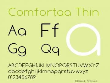 Comfortaa Font,Comfortaa Thin Font,Comfortaa-Thin Font
