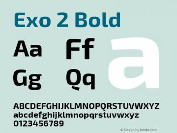 Exo 2 Bold Version 1.001;PS 001.001;hotconv 1.0.70;makeotf.lib2.5.58329; ttfautohint (v0.92) -l 8 -r 50 -G 200 -x 14 -w