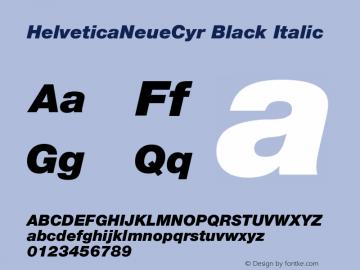 HelveticaNeueCyr Black Italic 001.000图片样张