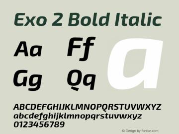 Exo 2 Bold Italic Version 1.001;PS 001.001;hotconv 1.0.70;makeotf.lib2.5.58329; ttfautohint (v0.92) -l 8 -r 50 -G 200 -x 14 -w