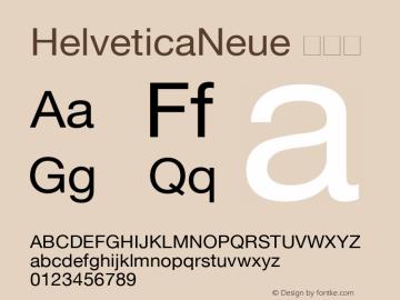HelveticaNeue 常规体 6.1d8e1 Font Sample