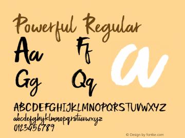 Powerful Regular Version 1.000;PS 001.000;hotconv 1.0.88;makeotf.lib2.5.64775 Font Sample