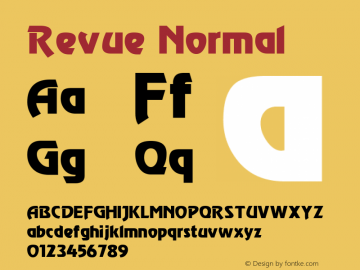 Revue Normal 1.0 Thu May 27 21:10:21 1993 Font Sample