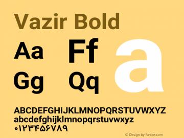 Vazir Bold Version 4.4.0 Font Sample
