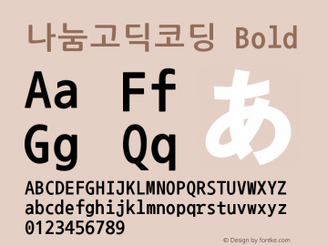 나눔고딕코딩 Bold Version 2.500;PS 1;hotconv 16.6.51;makeotf.lib2.5.65220 Font Sample