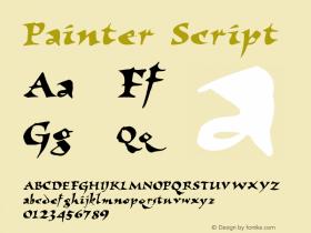 Painter Script 1.0 Thu Mar 04 10:00:42 1993 Font Sample