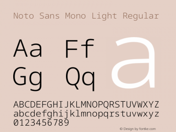 Noto Sans Mono Light Font,Noto Sans Mono Font,NotoSansMono