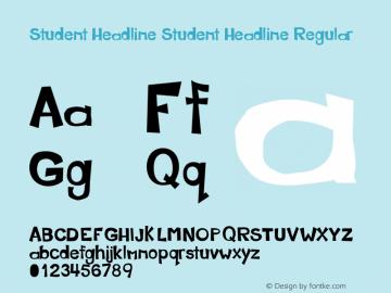 Student Headline Student Headline Regular Version 1 complete图片样张