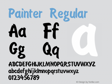 Painter Regular Version 1.0 Font Sample