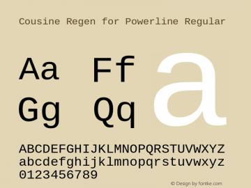 Cousine Regen for Powerline Regular Version 1.20 Font Sample