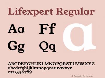 Lifexpert Regular Version 1.000 Font Sample
