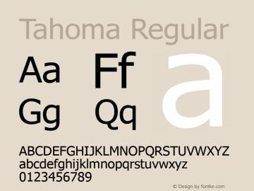 Tahoma Regular Version 5.21 Font Sample