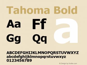 Tahoma Bold Version 5.21 Font Sample