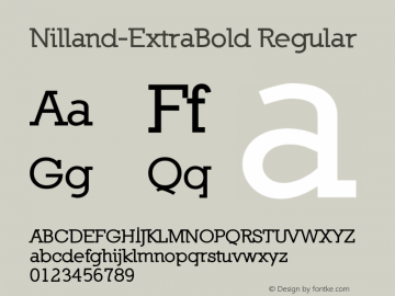 Nilland-ExtraBold Regular 1.0 2005-03-11 Font Sample