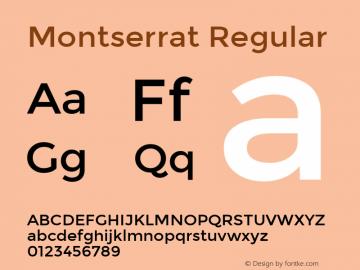 Montserrat Regular Version 2.001 Font Sample
