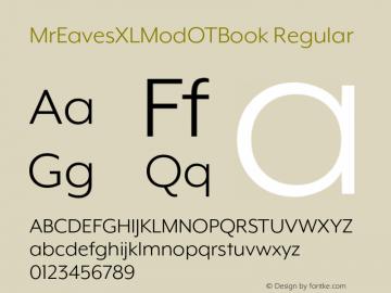 MrEavesXLModOTBook Regular Version 1.100;PS 001.100;hotconv 1.0.57;makeotf.lib2.0.21895图片样张