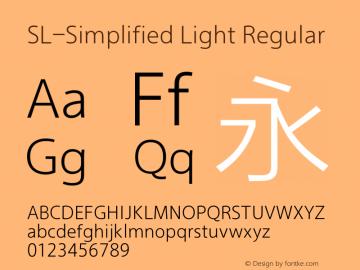 SL-Simplified Light Regular Version 2.0 Font Sample