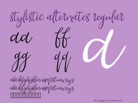 Stylistic Alternates Regular Version 1.000;PS 001.001;hotconv 1.0.56 Font Sample