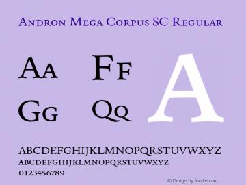 Andron Mega Corpus SC Regular Version 1.003 Font Sample