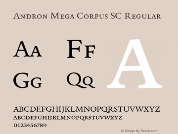Andron Mega Corpus SC Regular Version 1.003 October 27, 2016图片样张