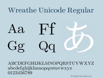Wreathe Unicode Regular Version 3.14.2.2 Font Sample