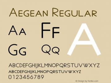 Aegean Regular Version 7.01图片样张